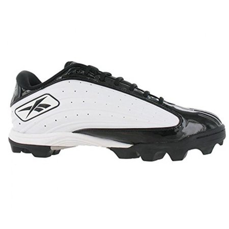 REEBOK OUTSIDE SPEED LOW M MENS FOOTBALL CLEATS WHITE & BLACK 10.5