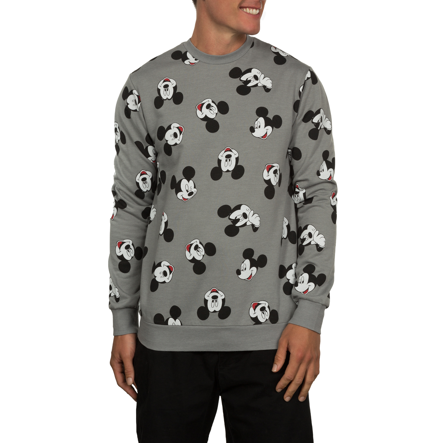 Mickey Mouse Men's Crew Fleece, up to Size 2XL