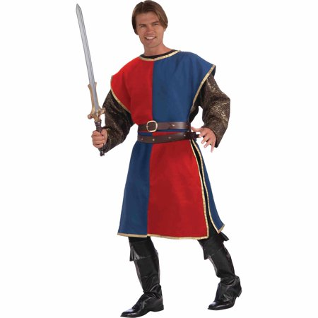 Red/Blue Medieval Tabard Adult Halloween Costume for $<!---->