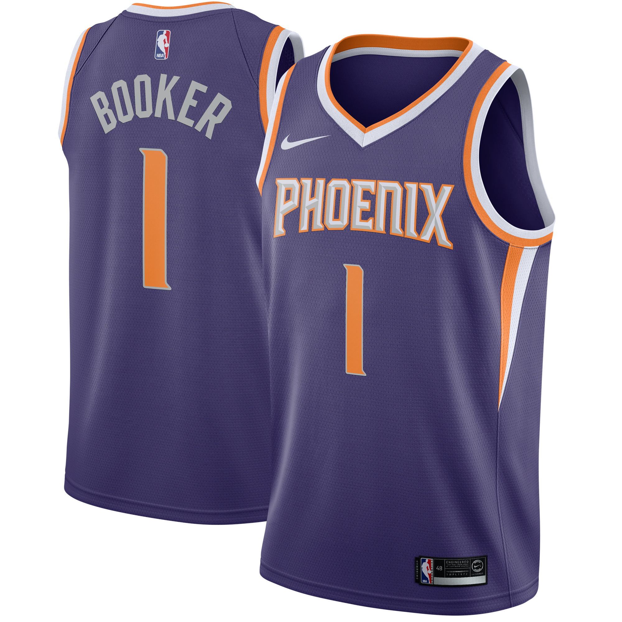 Devin Booker Phoenix Suns Nike Swingman Jersey Purple - Icon Edition