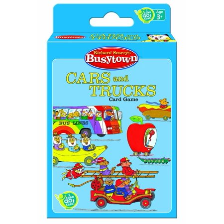 Games - Richard Scarry's - Busytown Cars and Trucks Card Toys New Gifts 01026