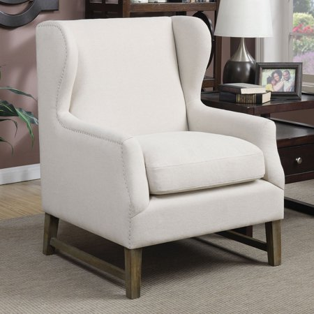 Wenge Accent (Coaster Company Accent Chair, Cream Linen-Like, Weathered)