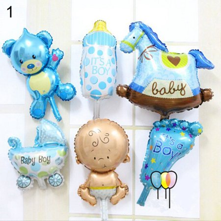 Girl12Queen 6 Pcs/Set Angel Baby Shower Foil Balloons Kid Boy Girl Birthday Party Decoration](Toddler Boy Party Themes)