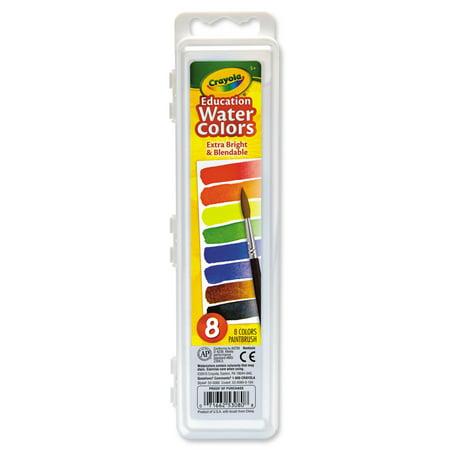 Crayola Educational Watercolor Set, 8-Colors - Crayola Watercolor