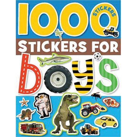 1000 STICKERS FOR BOYS - Adult Sticker Book