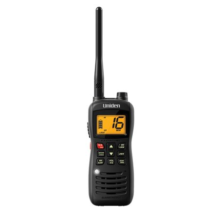 Vhf Marine Radio, Uniden Handheld Floating 2way Marine Radio Waterproof, Black