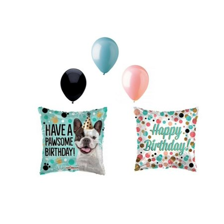 5 pc Have a Pawsome Birthday Dog Puppy Party Balloons Decoration Supplies](Puppy Balloons)