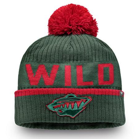 competitive price 5b51b cb4b8 Minnesota Wild Fanatics Branded Iconic Stroke Cuffed Knit Hat with ...