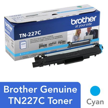 Brother Genuine TN-227C High Yield Cyan Toner Cartridge