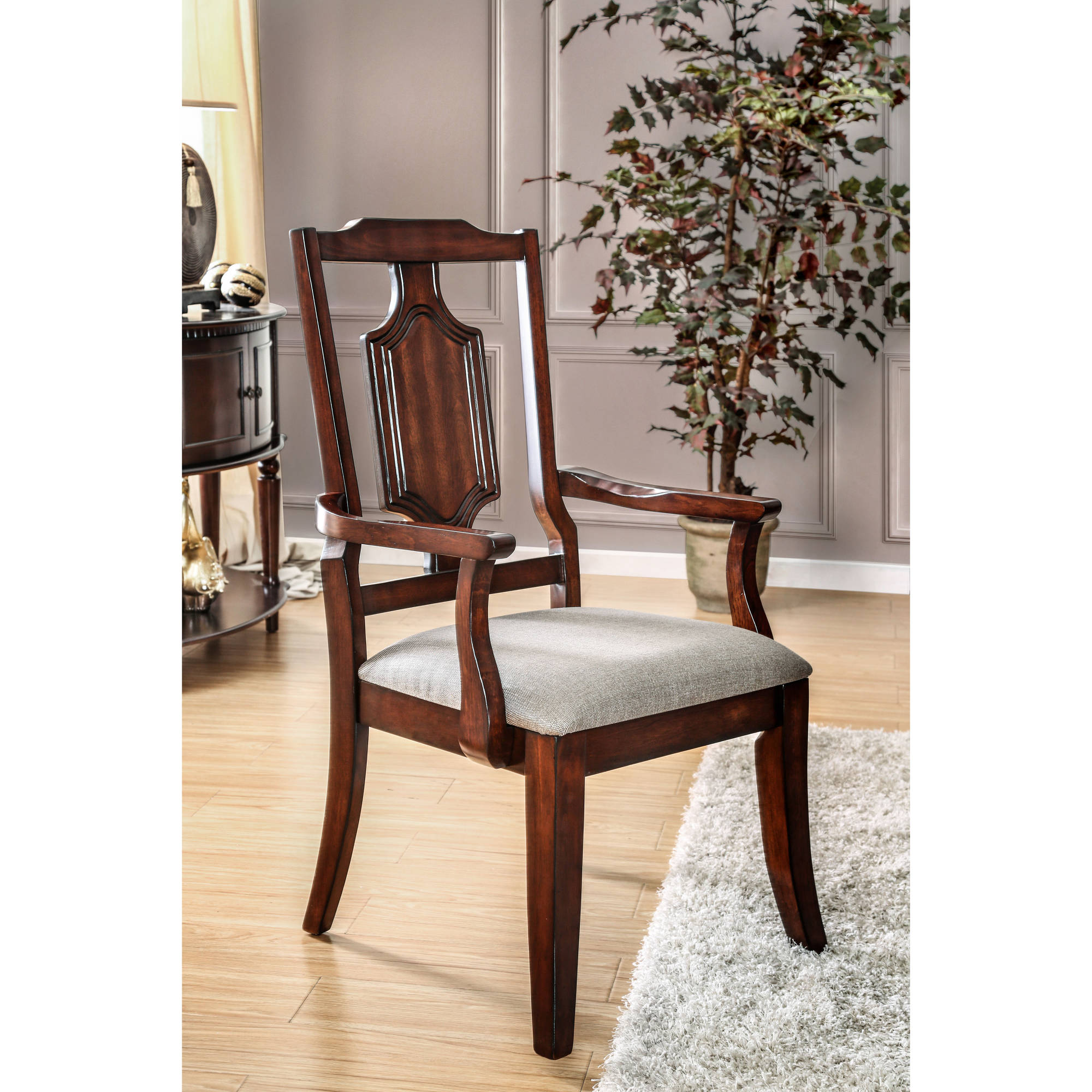 Furniture of America Horatio Traditional Dining Armchair (Set of 2), Brown Cherry by Furniture of America