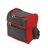 Monogram Online Hot & Cold Cooler Bag, Black & Red