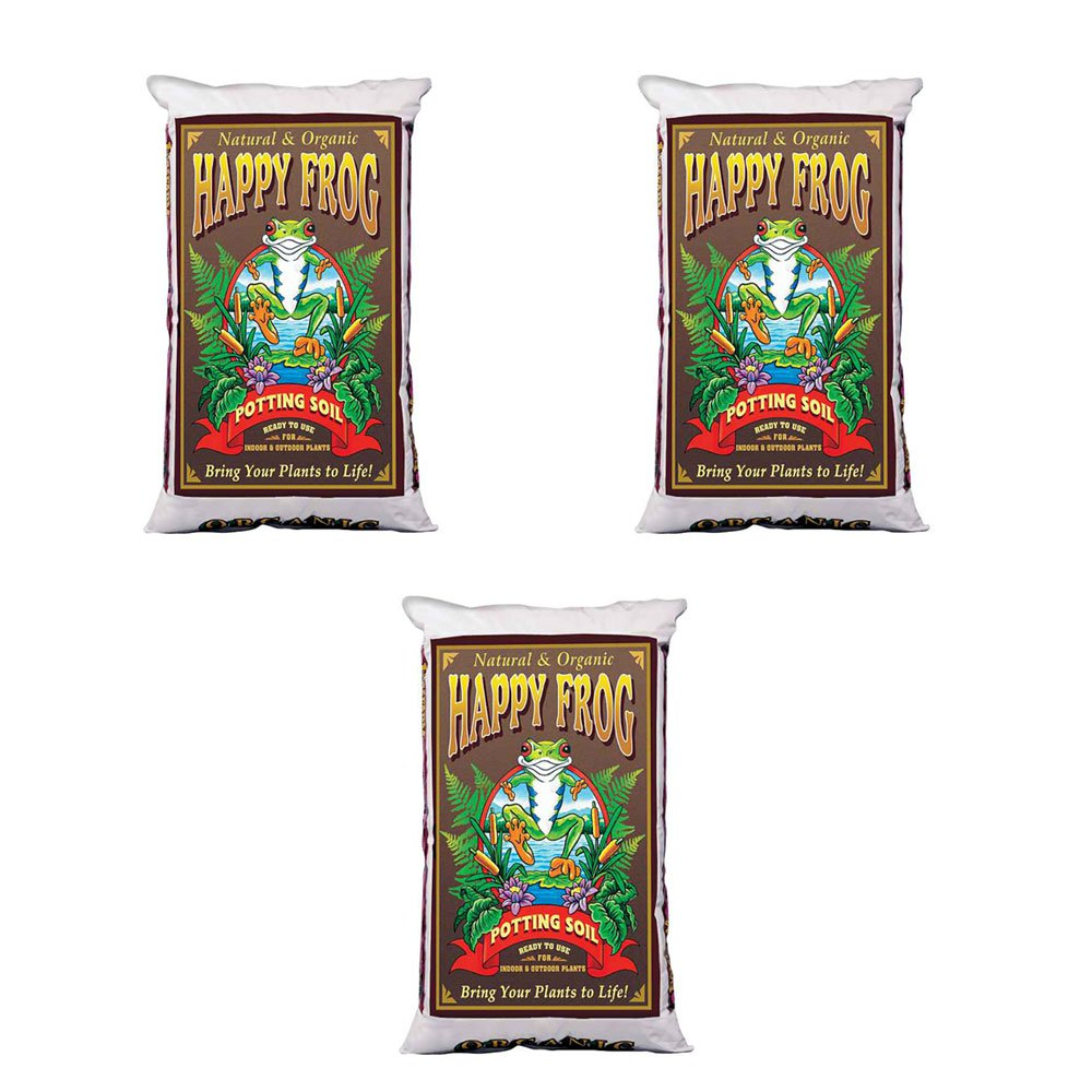 FoxFarm Happy Frog Nutrient Rich Rapid Growth Potting Soil, 2 Cu Feet (3 Pack)