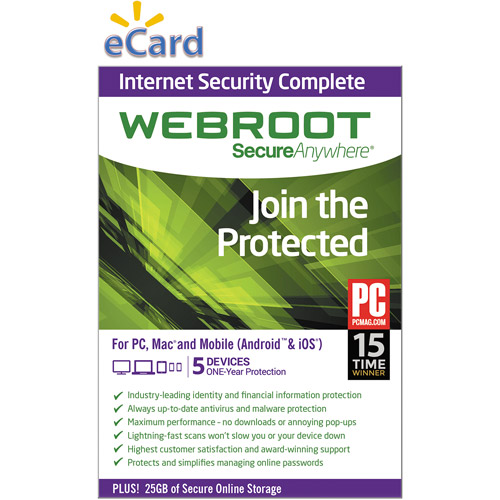 Webroot SecureAnywhere Complete 5U $49.98 (Email Delivery)