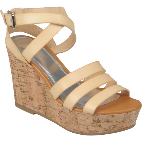 Brinley Co. Womens Strappy Wedge Sandals