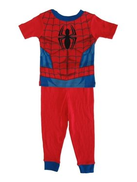 Marvel Little Toddler Boys Red Spiderman Cotton Short Sleeve 2 Pc Pajama 2T