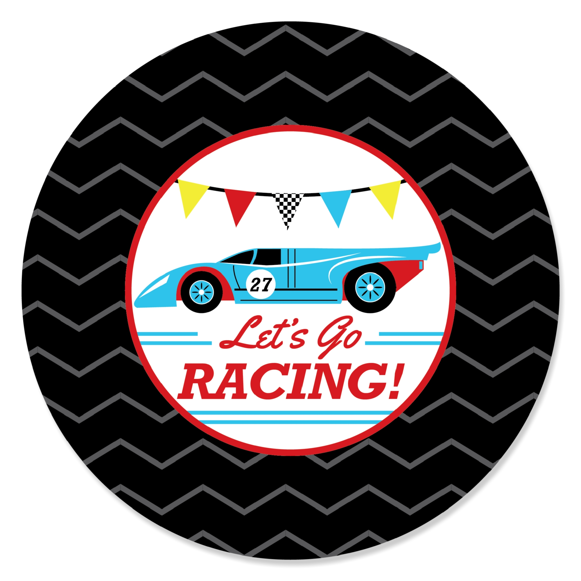 Let S Go Racing Racecar Baby Shower Or Race Car Birthday Party
