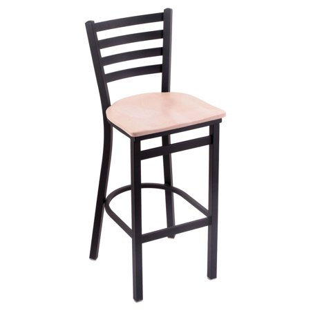- Holland Bar Stool Jackie 25 in. Counter Stool with Wood Seat - Black Wrinkle