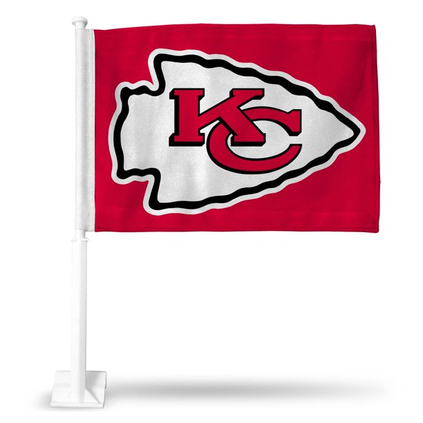 Kansas City Chiefs Logo Car Flag Red Walmart Com Walmart Com