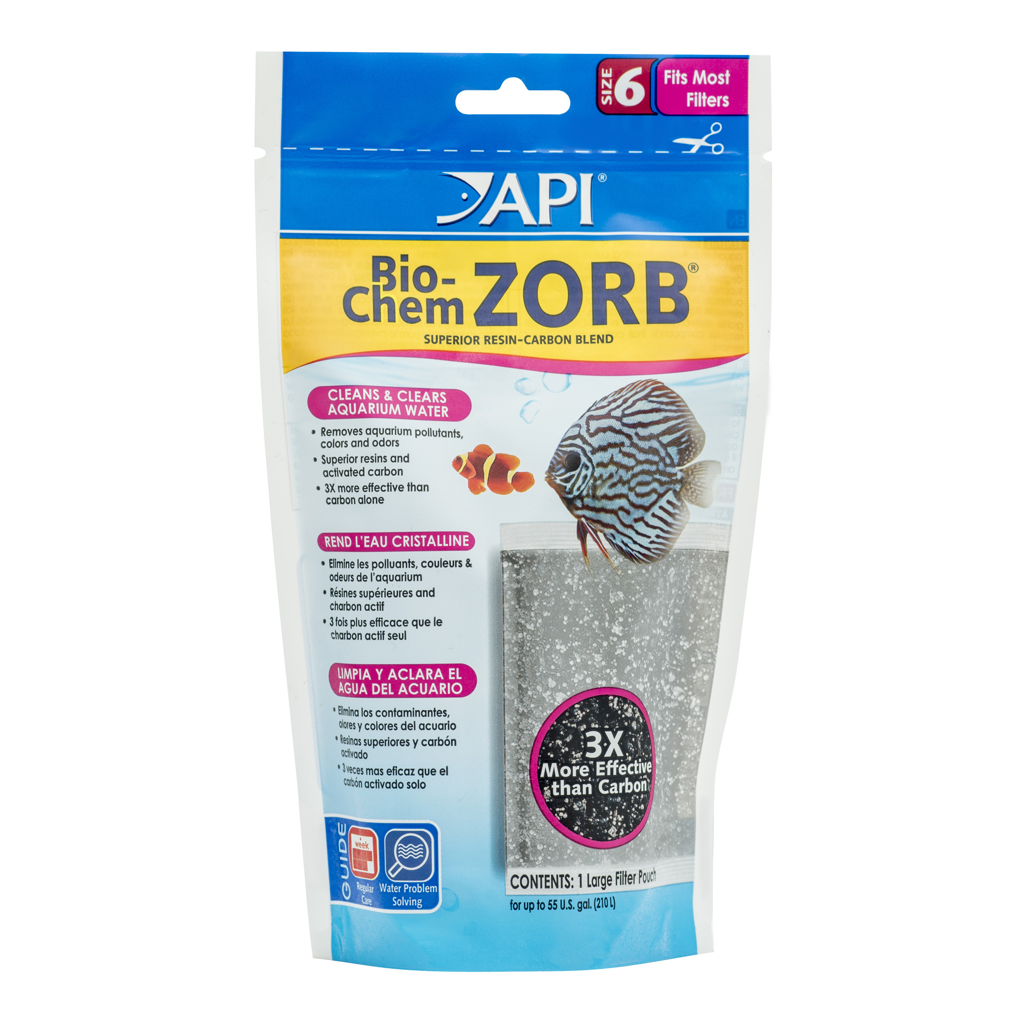 API Bio-Chem Zorb Size 6, Aquarium Canister Filter Filtration Pouch, 1-Count