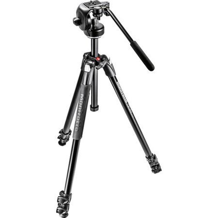 Manfrotto MK290XTA3-2WUS 290 Xtra Aluminum Tripod w128RC Micro Fluid Video