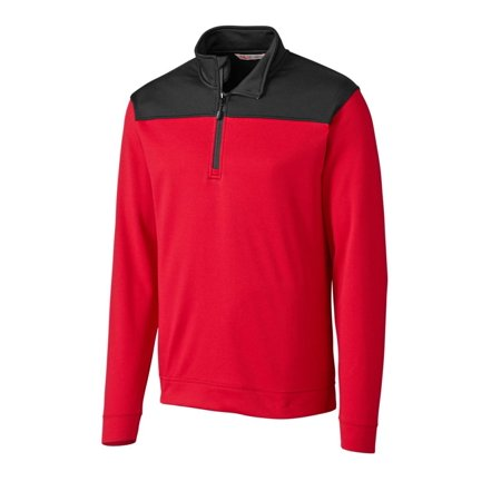 CBUK by Cutter & Buck Men's Long Sleeve Sky Ridge Half Zip Overknit Pullover