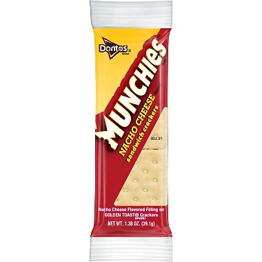 Munchies Nacho Cheese Flavored Sandwich Crackers (32 pk.) pk of - Halloween Munchies