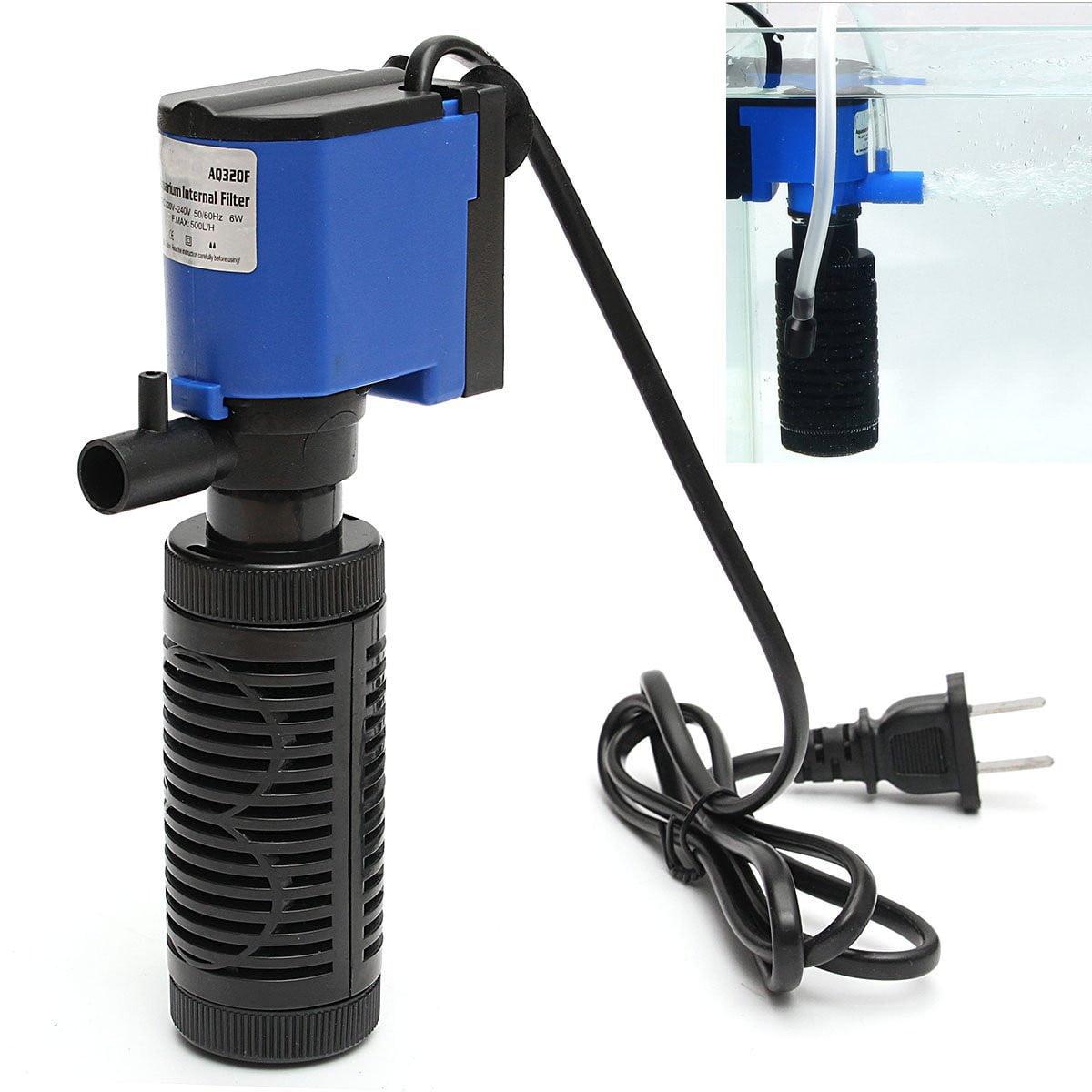 Meigar 6W 1000L/H 220V Submersible Water Internal Filter Aquarium Fish Tank Pump Spray