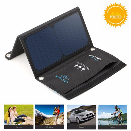 Blitzwolf Solar Charger   15W 2A Foldable Portable Sun Usb Dual Port With Power 3S Camping Driving