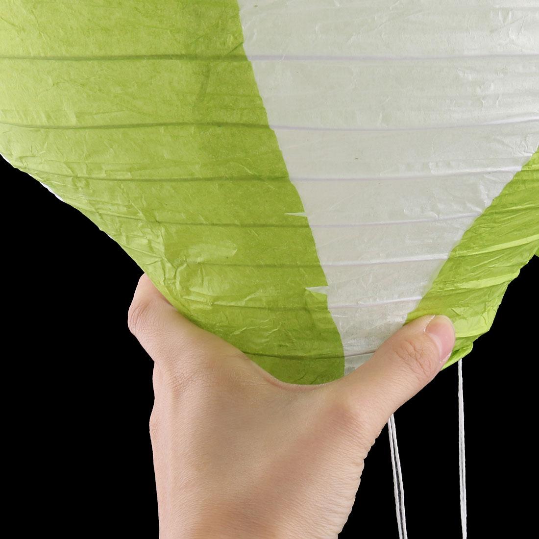 Festival Party Paper DIY Handmade Lightless Hot Air Balloon Lantern Green White - image 2 of 6