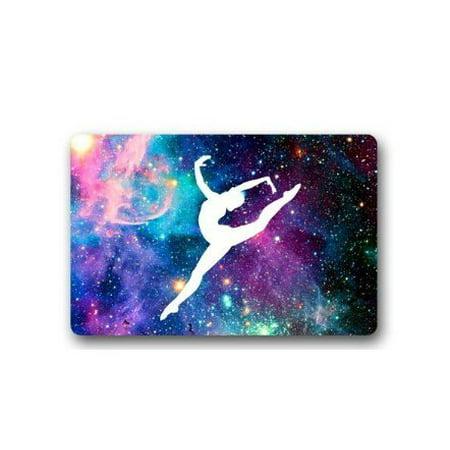 WinHome Gymnastic Galaxy Hall Doormat Floor Mats Rugs Outdoors/Indoor Doormat Size 23.6x15.7 - Hall Floor