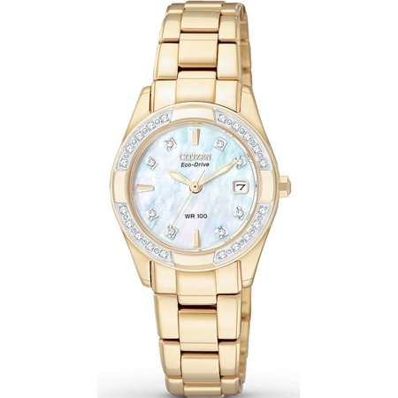 Women's Eco Drive Regent Diamond Dress Watch (Citizen Eco Drive Ladies Fashion)