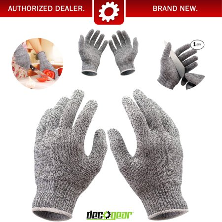 Kitchen Gloves for Cutting Food - Cut Resistant - Stretch Fit Safety Gloves Deco