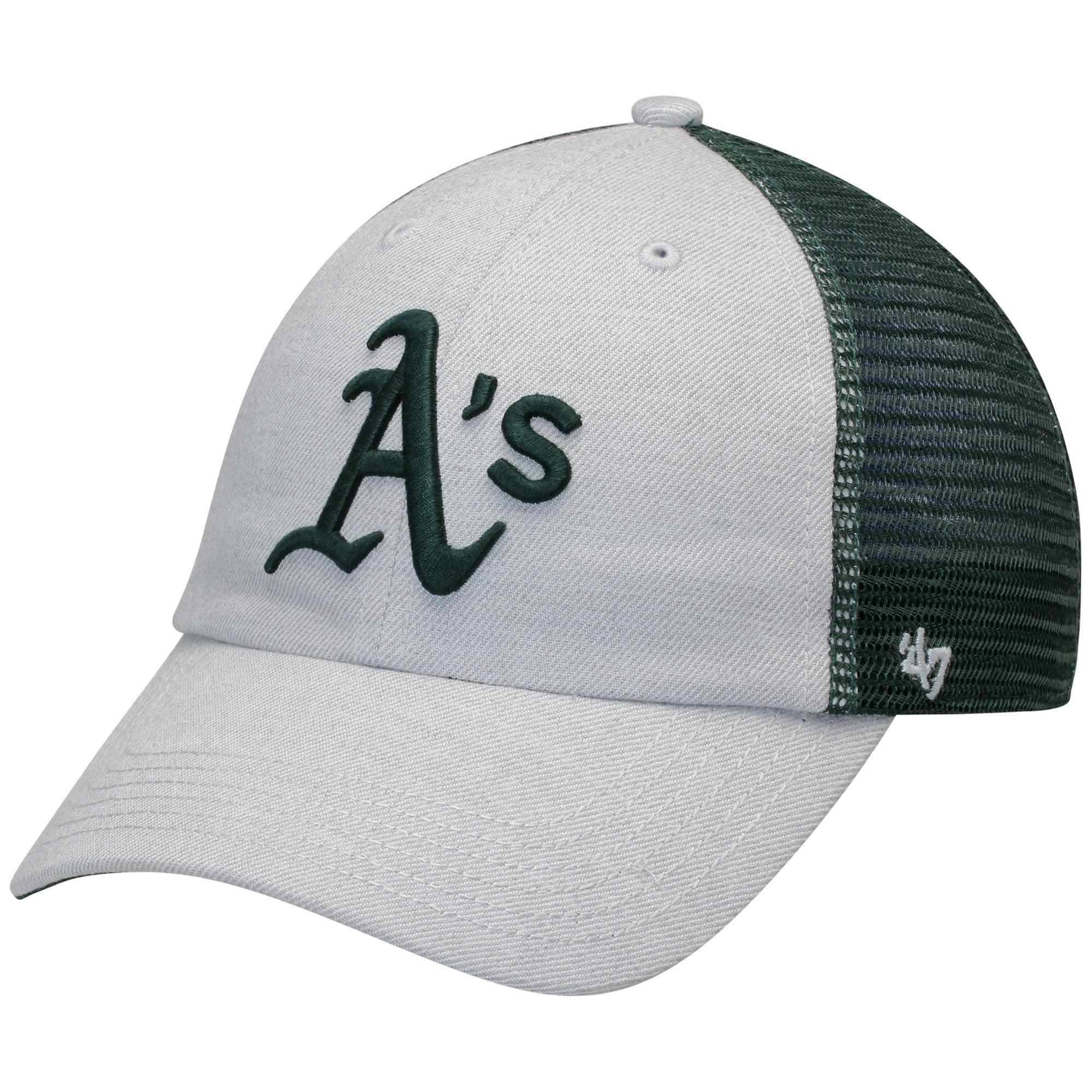 Oakland Athletics '47 Tamarac Clean Up Snapback Adjustable Hat - Gray/Green - OSFA