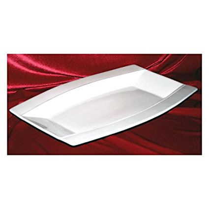 Modern M15814, 14-Inch Oval Rectangular Porcelain Plate, Square Serving Platter Tray, Classic Serving Plate (1)