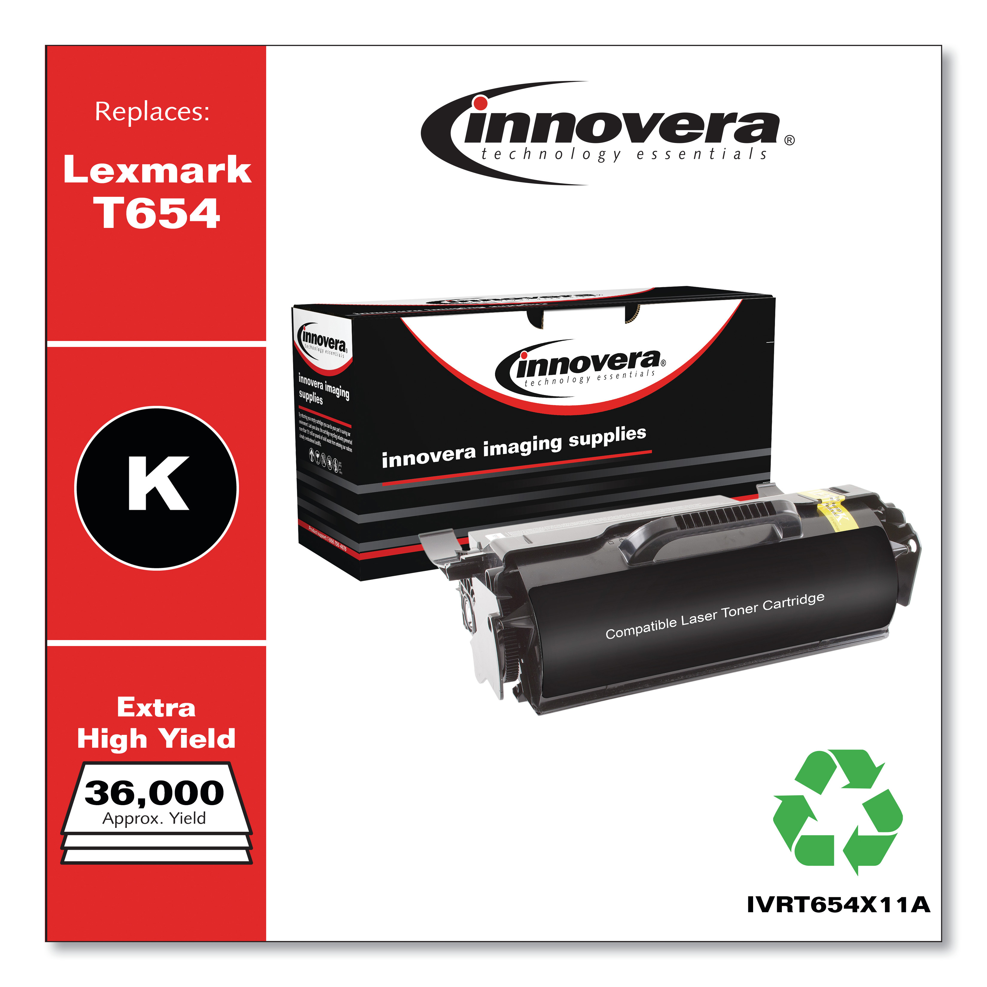 2//PK-36000 Page Yield T654X21E/_2PK SuppliesMAX Compatible Replacement for Lexmark T654//T656//TS654//TS656 Extra High Yield Toner Cartridge