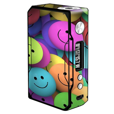Skin Decal For Voopoo Drag 157W Vape / Colorful Smiley Faces Balls