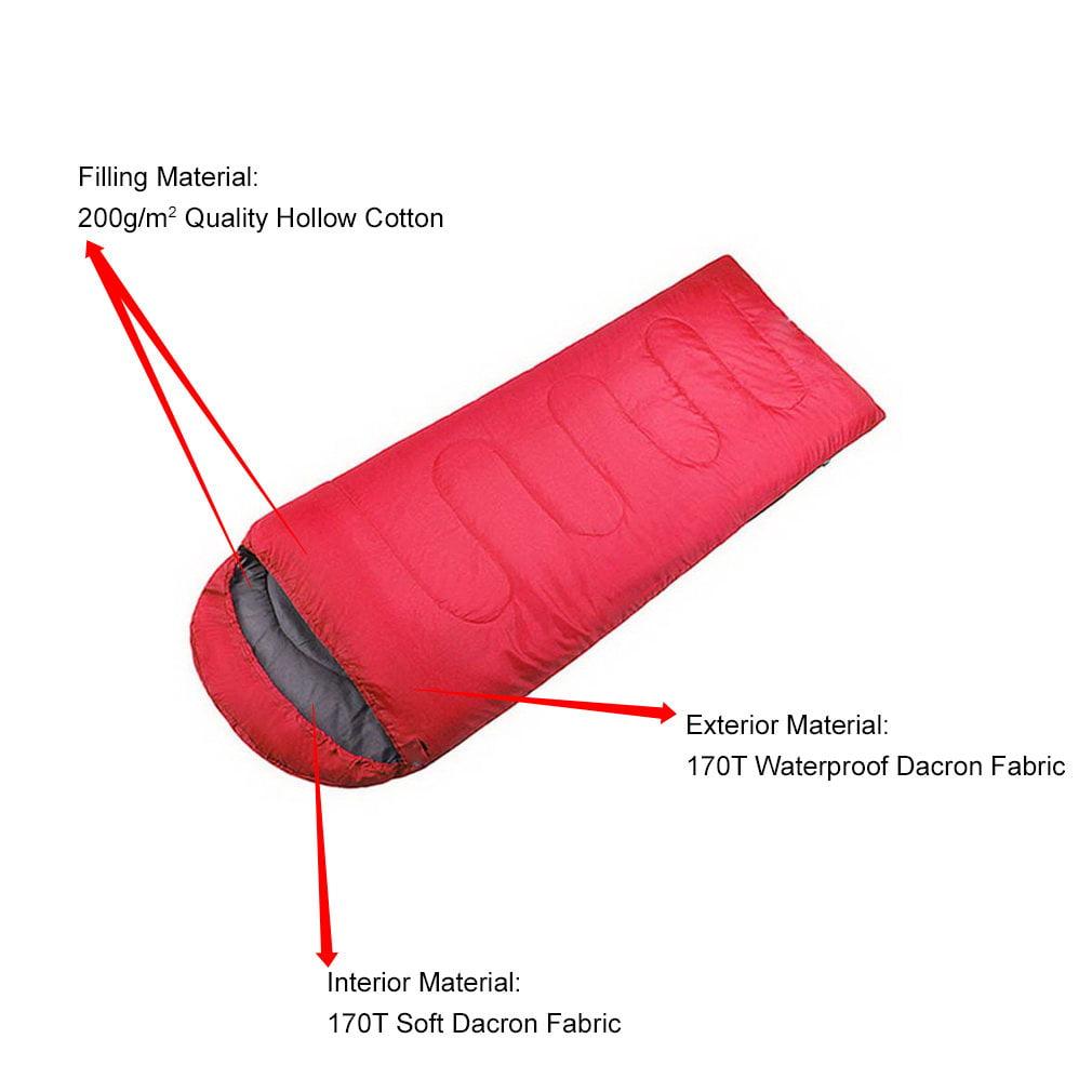 Comfortable Warm Soft Large Single Hiking Mummy Sleeping Bag Adult Waterproof Camping Sleeping Bag by