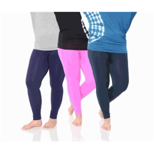 White Mark Universal Pack 52 Womens Plus Size Legging, Purple, Navy & Pink - One Size - Pack of 3