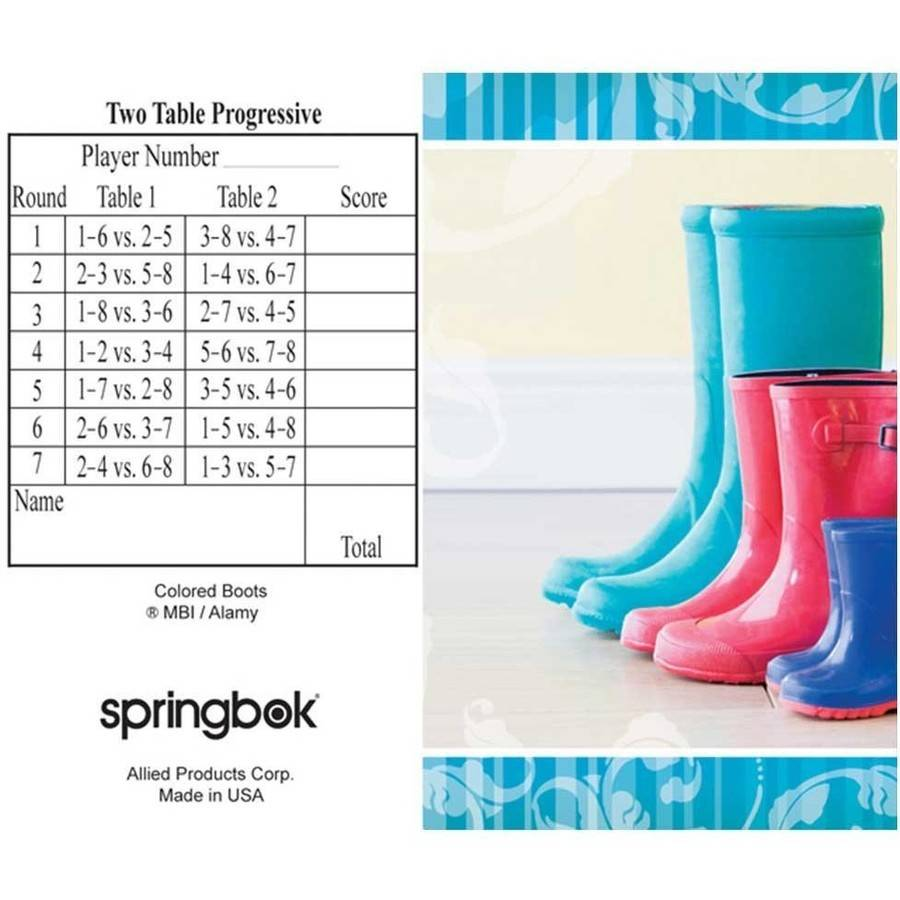 Springbok Boots Bridge Tally Sheets Bridge Playing Cards Accessory