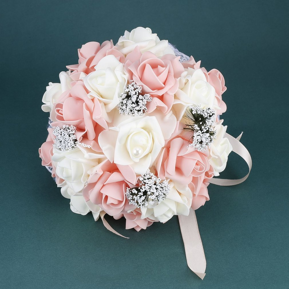 Wedding Romantic Bride Bouquet Artificial Rose Hand Bouquet Korean Style Simulation Holding Flower Wedding Supplies