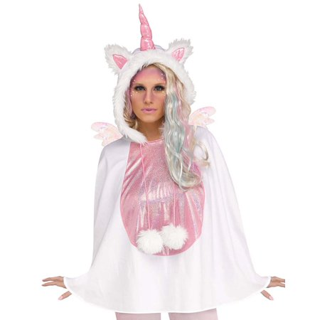 Unicorn Womens Adult Mythical Creature Costume Halloween Poncho - Halloween Costumes Adults Women