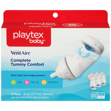 Playtex Baby Ventaire Advanced Wide Baby Bottles   6Oz  3Pack