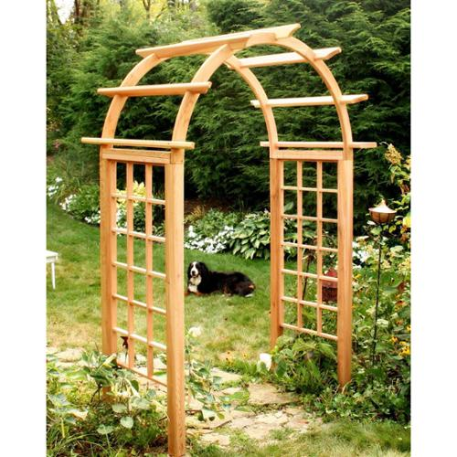 Cedar Arched Arbor with Square Posts (54 in.)