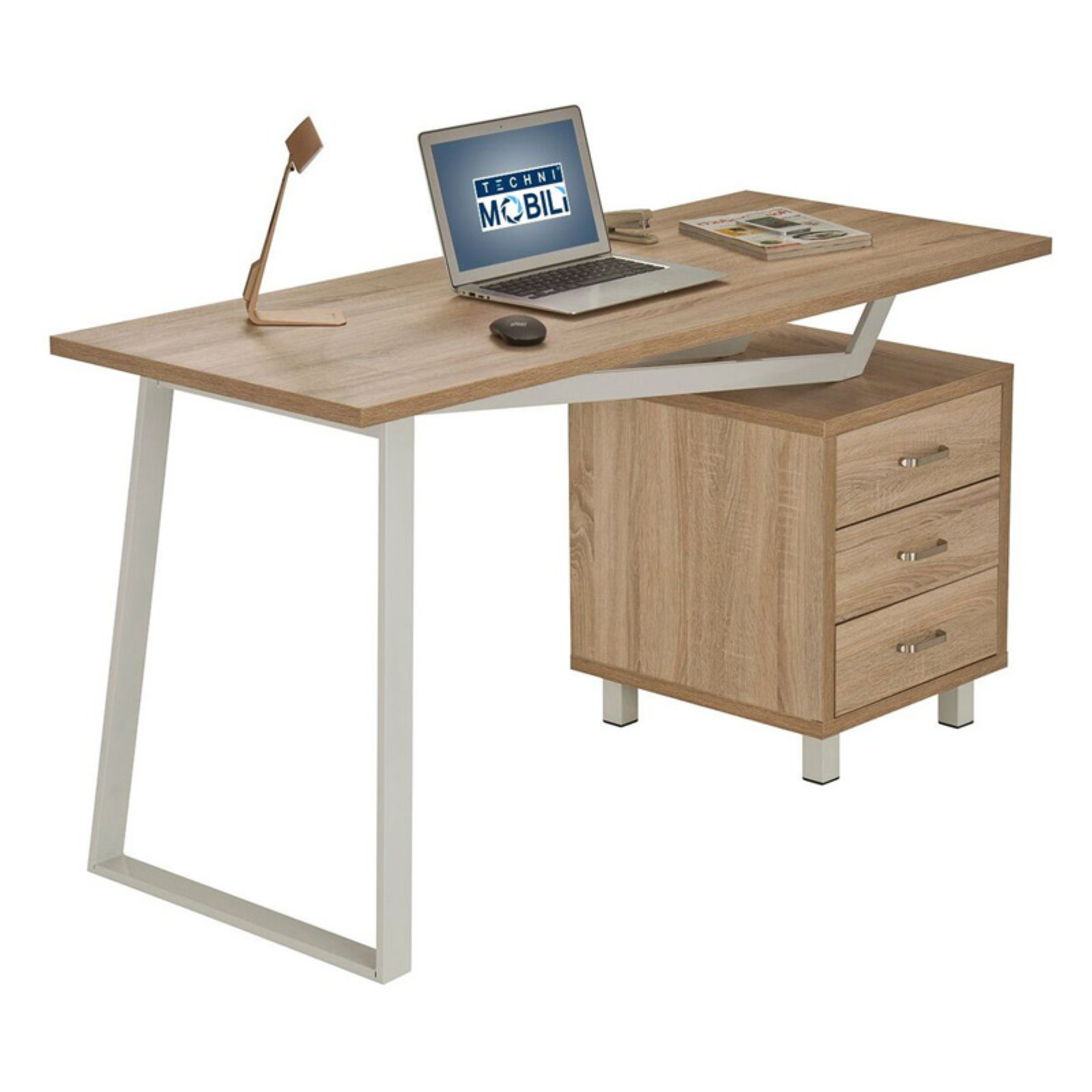 Techni Mobili Computer Desk with Storage Drawers