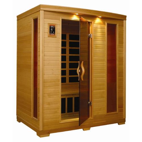 Golden Designs Inc. 3 Person Low EMF FAR Infrared Sauna by Dynamic Sauna