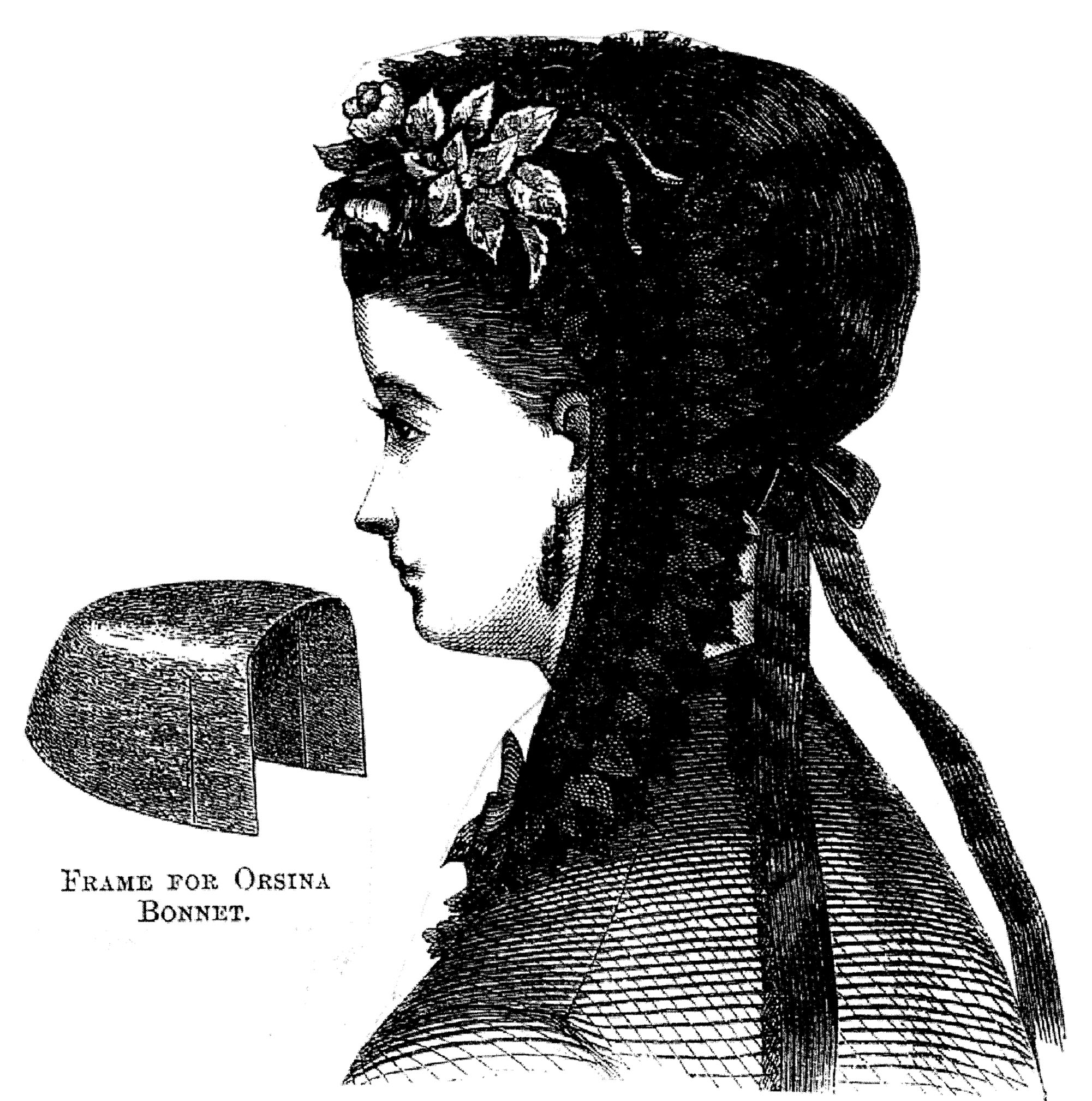 Sewing Pattern: 1869 Orsina Bonnet