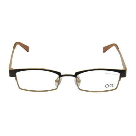Ogi 4025 48-18-140 Chocolate / Ochre Full-Rim Eyeglasses Frame ...