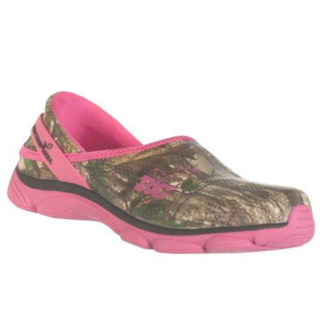 Realtree Outfitters Womenu0026#39;s Lola Slip On Shoes Pink u0026 Green Camo 7 M - Walmart.com