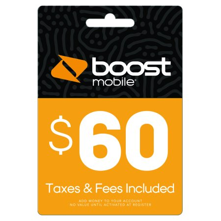 $60 Re-Boost Card (Email Delivery) Boost Mobile Unlimited