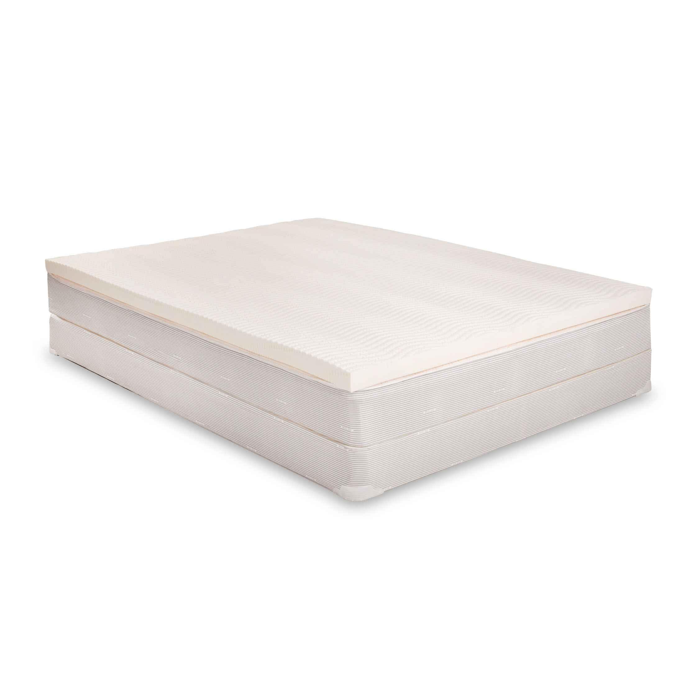 eLuxurySupply - 100% Latex Mattress Topper - No Fillers - Reversible with 2 Firmnesses - Walmart.com